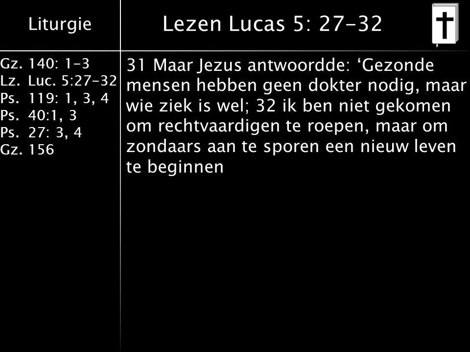 Lezen Lucas 5: 27-32