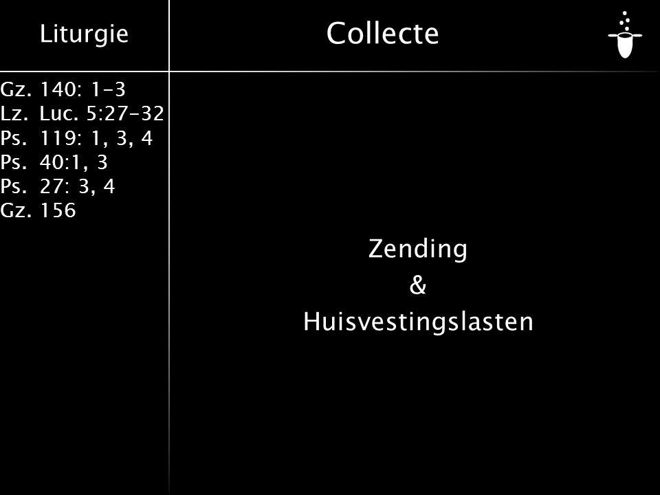 Zending & Huisvestingslasten