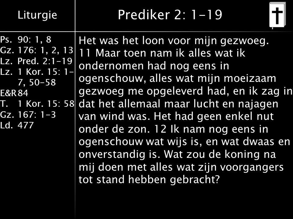 Prediker 2: 1-19