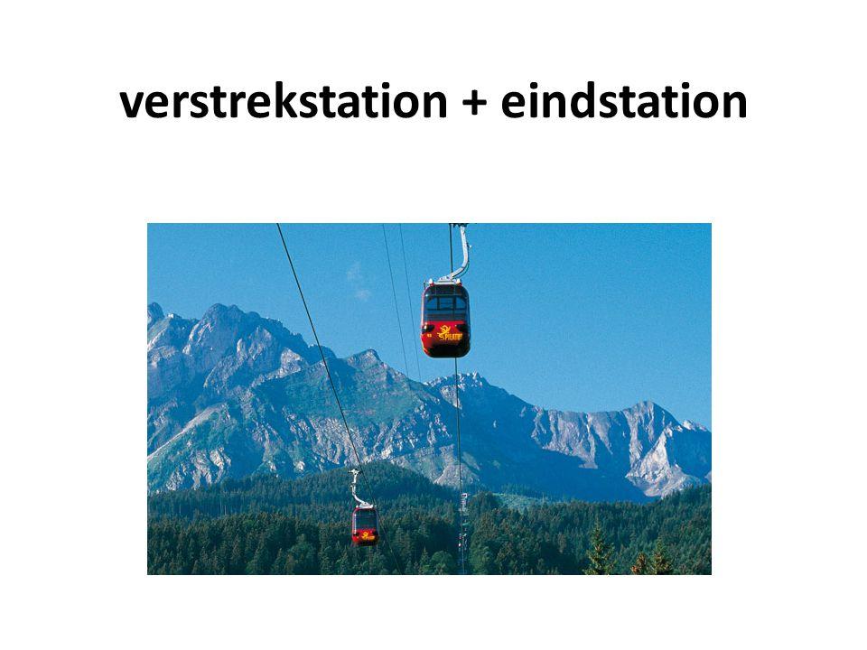 verstrekstation + eindstation