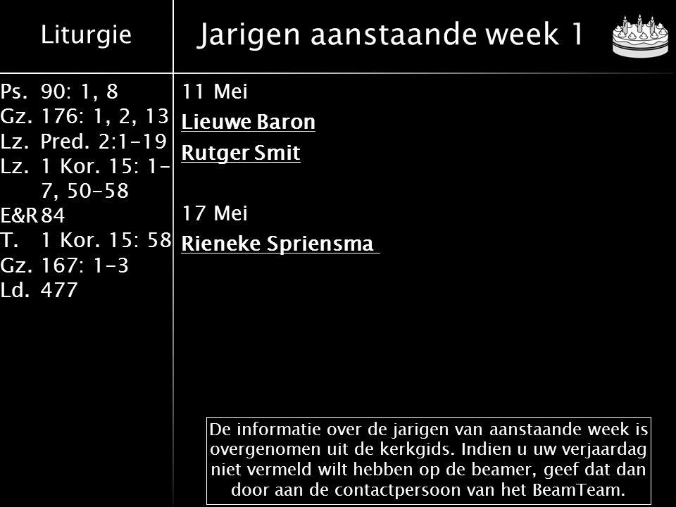 Jarigen aanstaande week 1