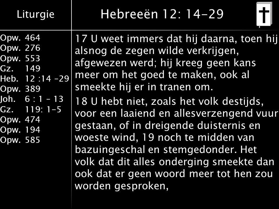 Hebreeën 12: 14-29