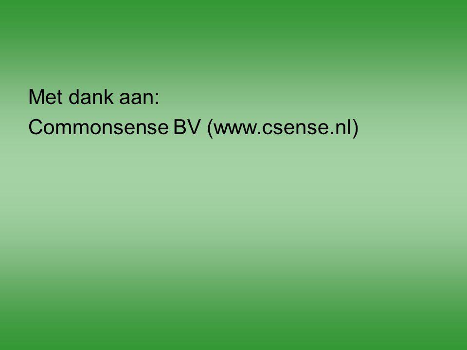Met dank aan: Commonsense BV (www.csense.nl)