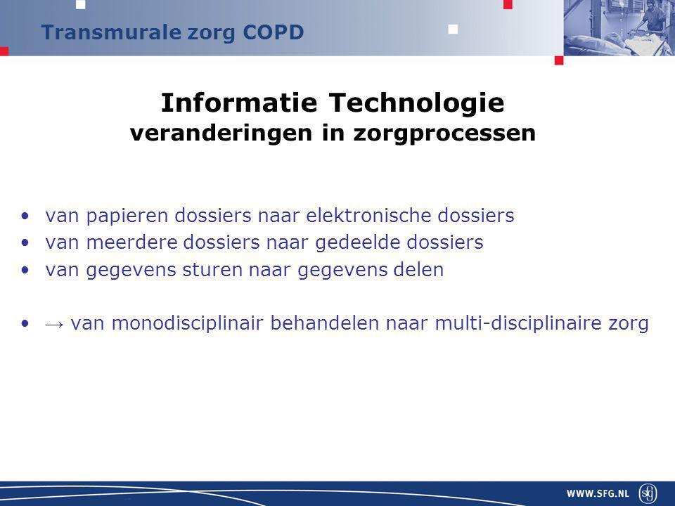 Informatie Technologie veranderingen in zorgprocessen
