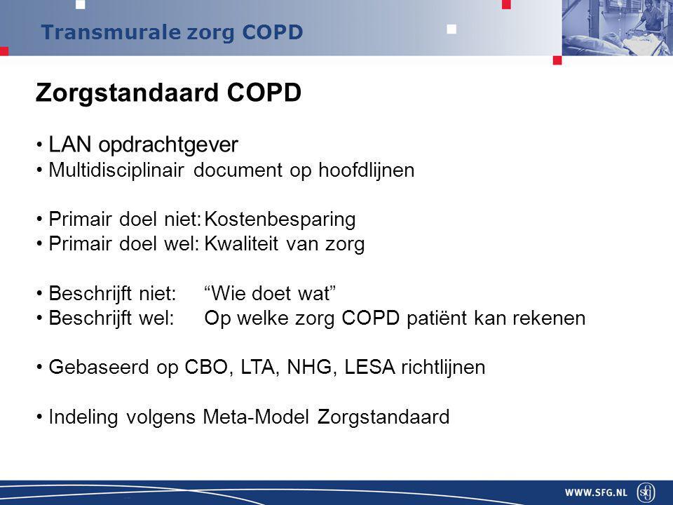 Zorgstandaard COPD LAN opdrachtgever