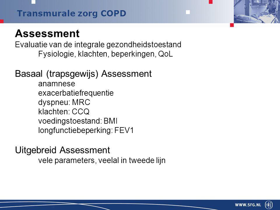 Assessment Basaal (trapsgewijs) Assessment Uitgebreid Assessment
