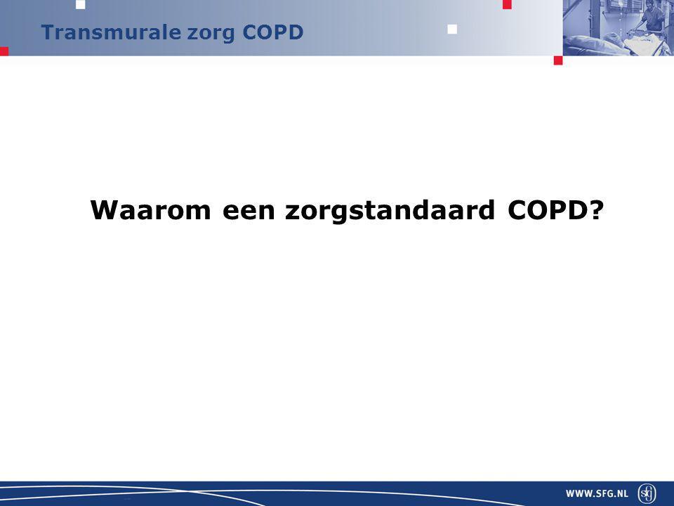 Waarom een zorgstandaard COPD