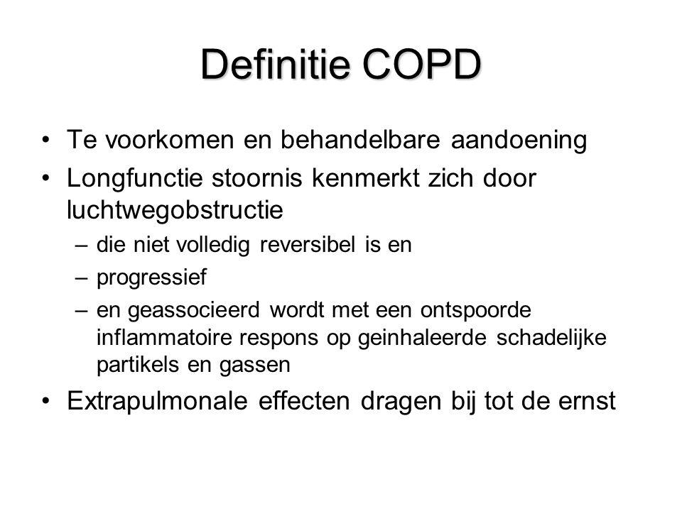 Definitie COPD Te voorkomen en behandelbare aandoening