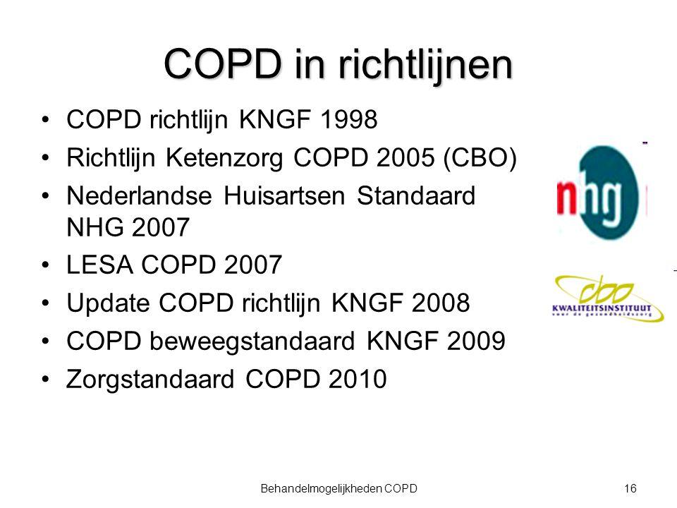 Behandelmogelijkheden COPD
