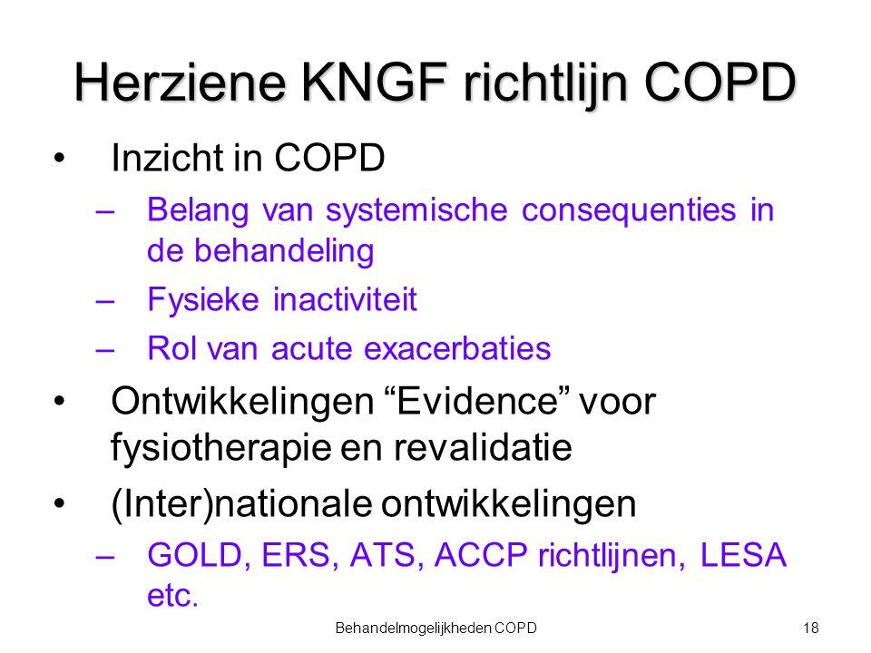 Herziene KNGF richtlijn COPD