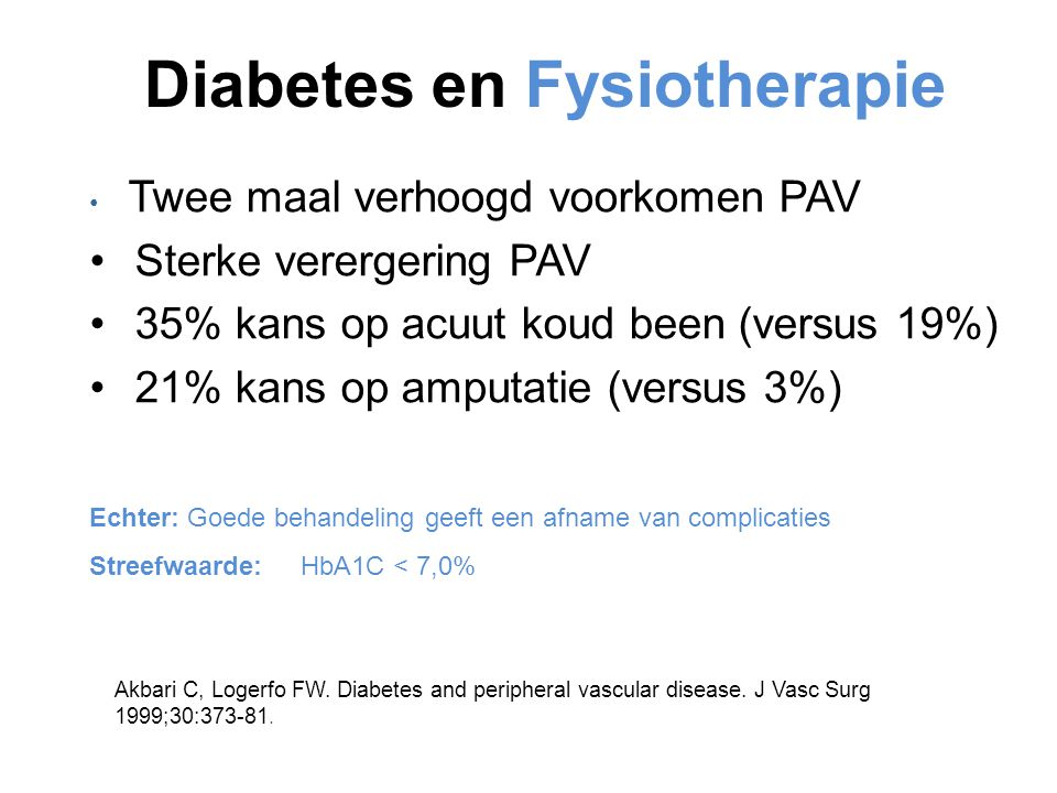 Diabetes en Fysiotherapie
