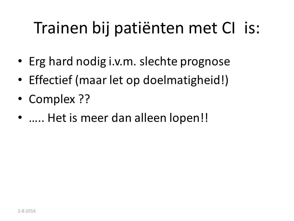 Trainen bij patiënten met CI is: