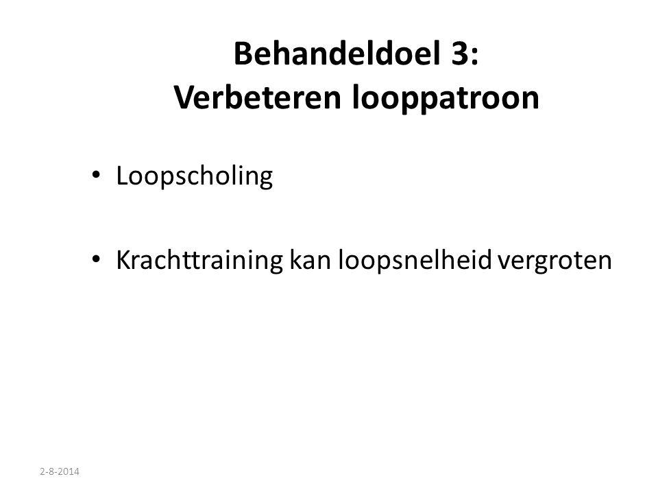 Behandeldoel 3: Verbeteren looppatroon