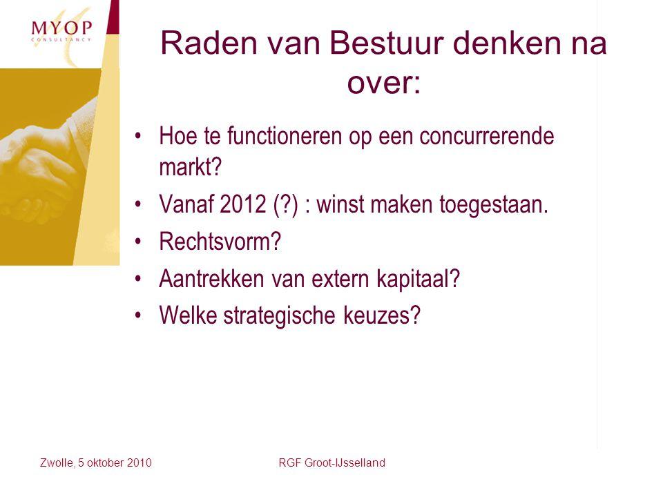 Raden van Bestuur denken na over: