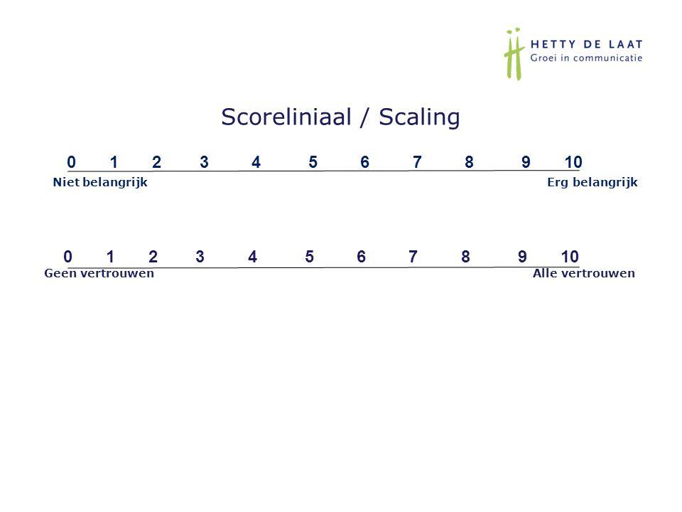Scoreliniaal / Scaling