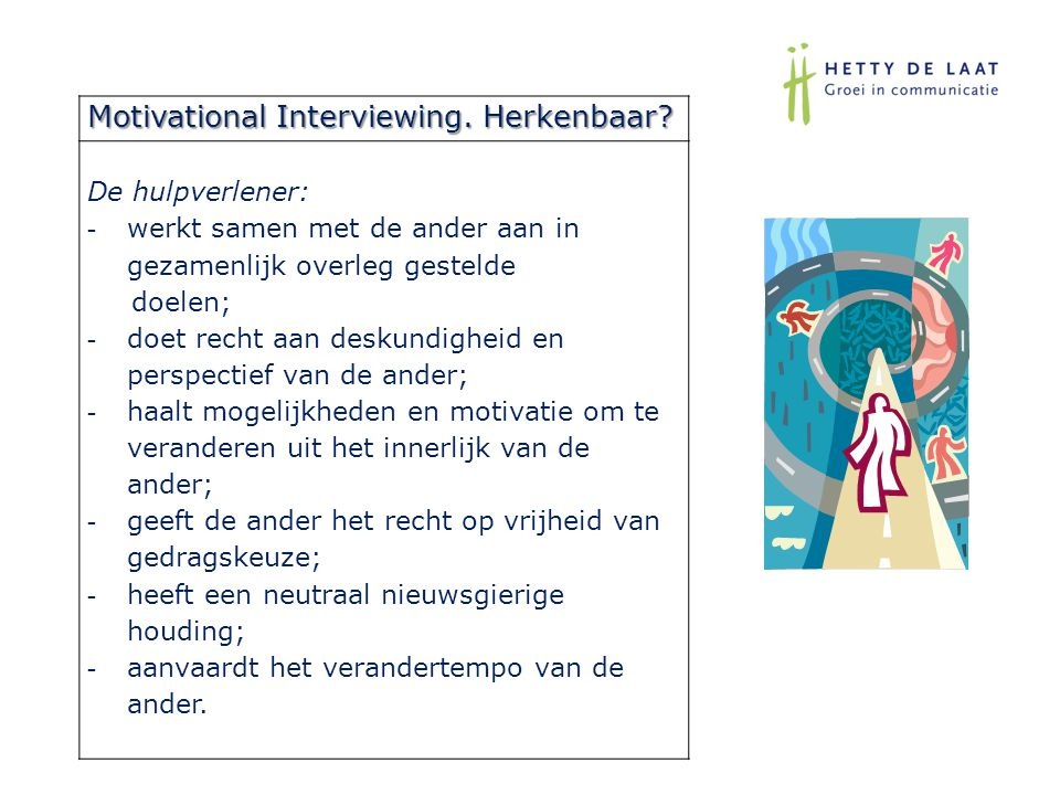Motivational Interviewing. Herkenbaar