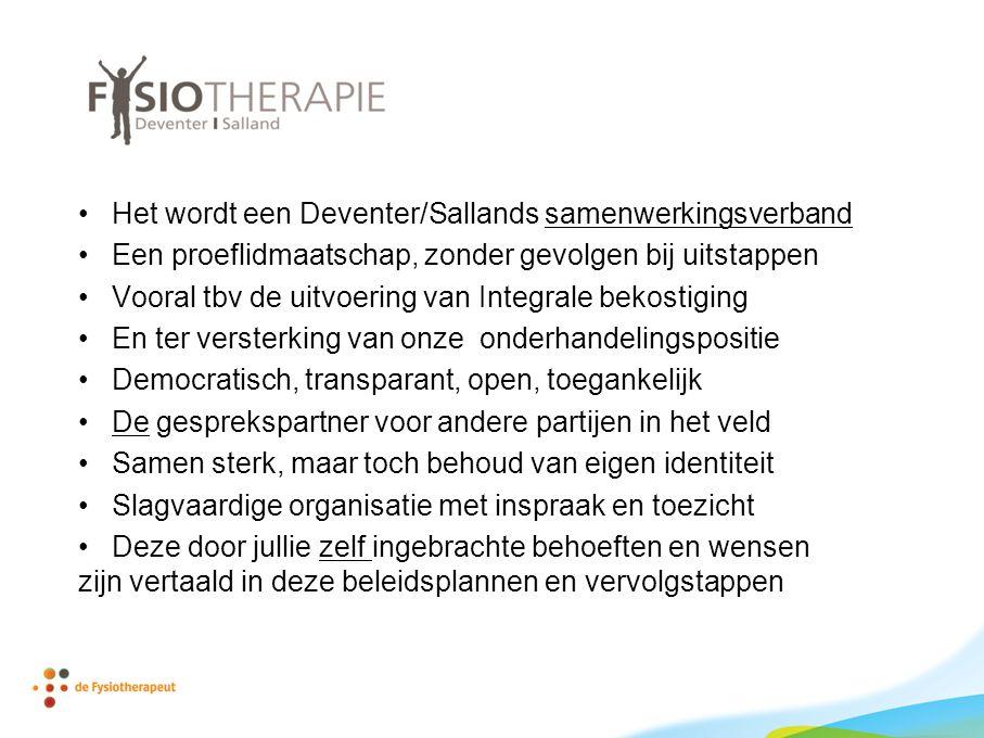 Het wordt een Deventer/Sallands samenwerkingsverband