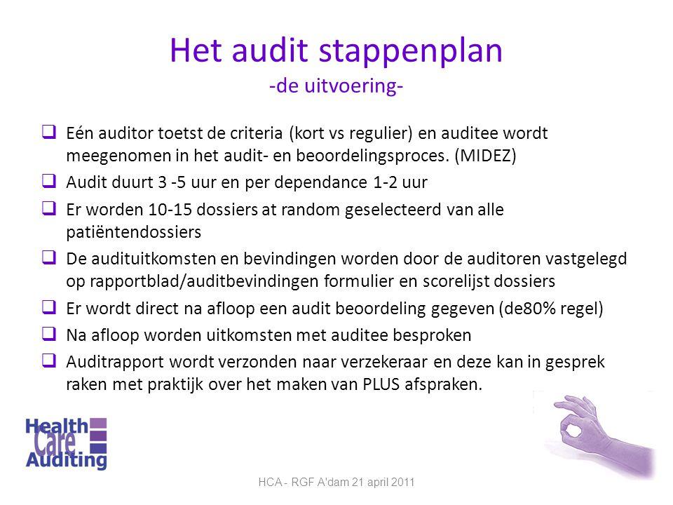 Het audit stappenplan -de uitvoering-