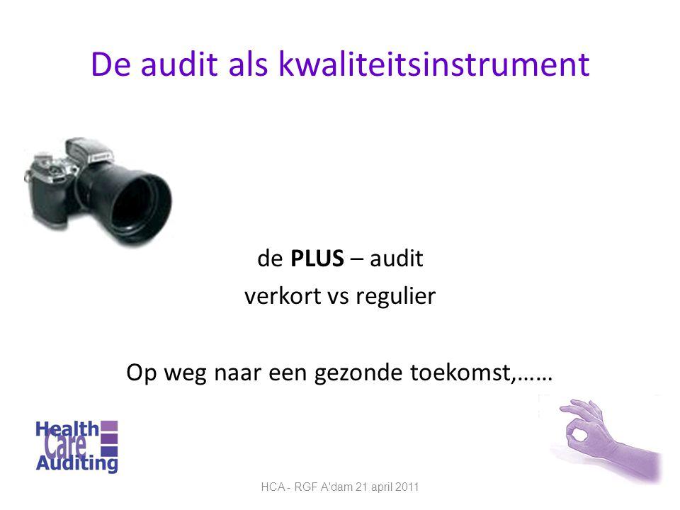 De audit als kwaliteitsinstrument