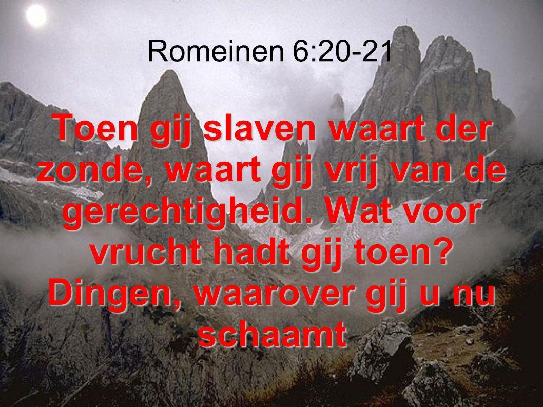 Romeinen 6:20-21