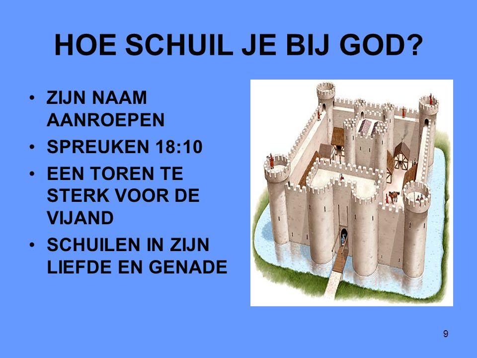 HOE SCHUIL JE BIJ GOD ZIJN NAAM AANROEPEN SPREUKEN 18:10