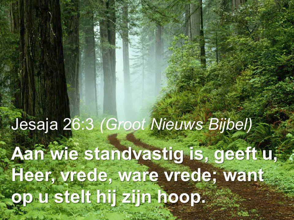 Jesaja 26:3 (Groot Nieuws Bijbel)