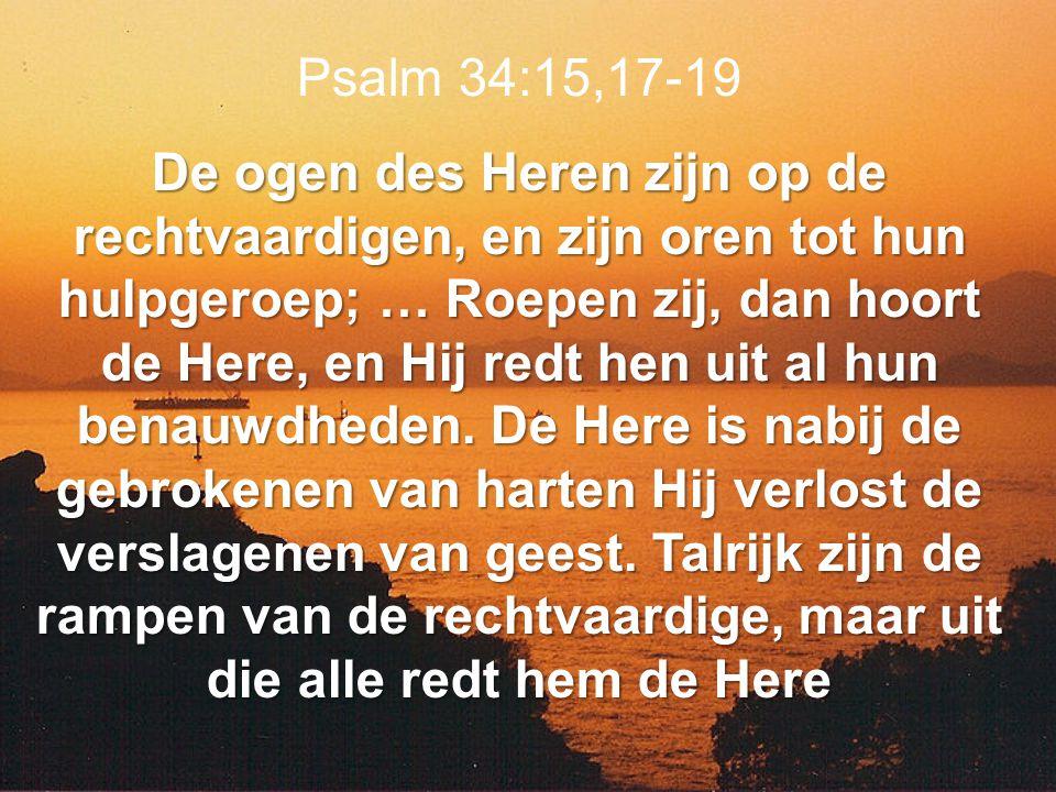 Psalm 34:15,17-19