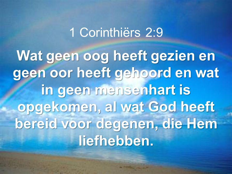 1 Corinthiërs 2:9