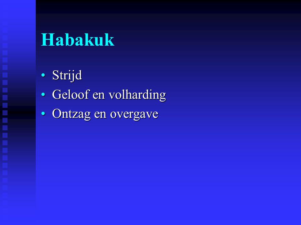 Habakuk Strijd Geloof en volharding Ontzag en overgave