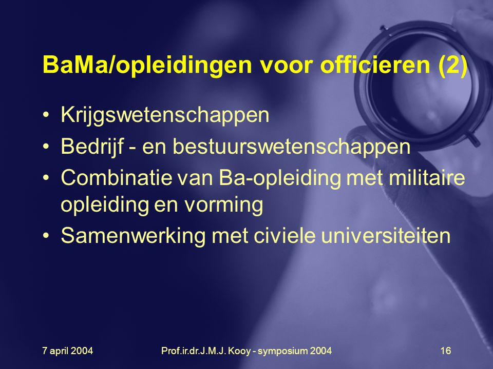 BaMa/opleidingen voor officieren (2)