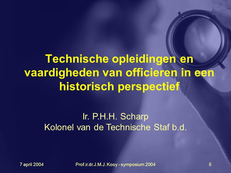 Technische opleidingen en vaardigheden van officieren in een historisch perspectief