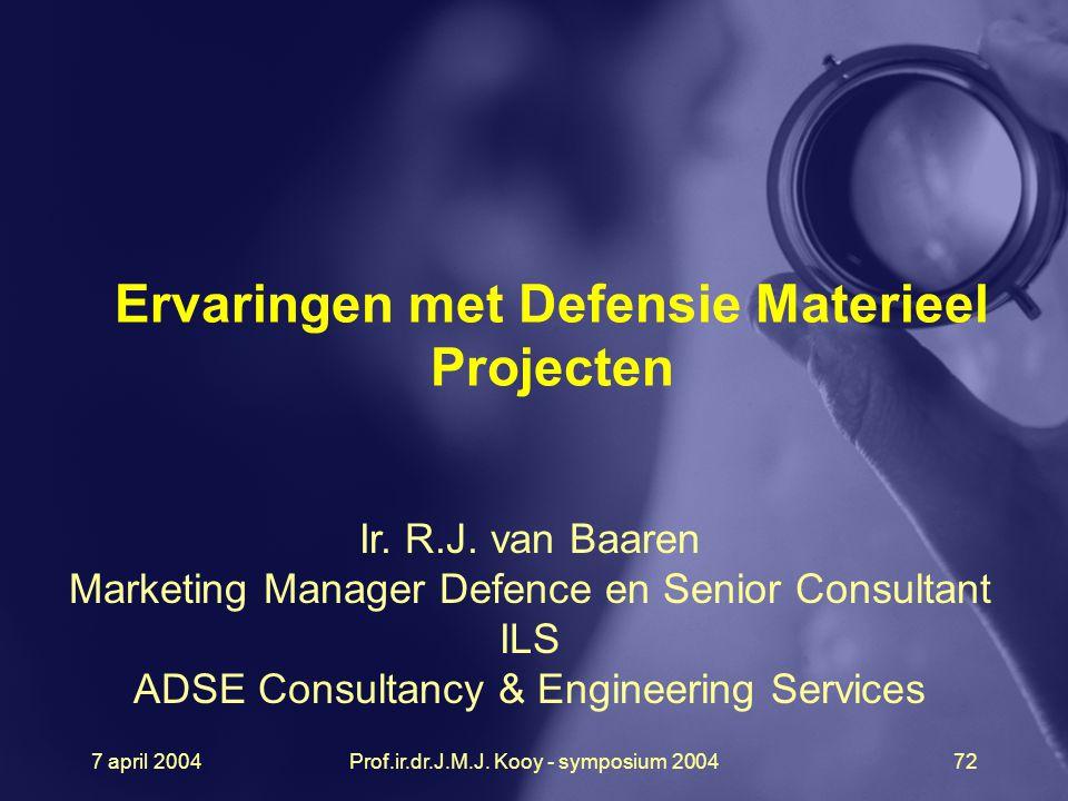 Ervaringen met Defensie Materieel Projecten