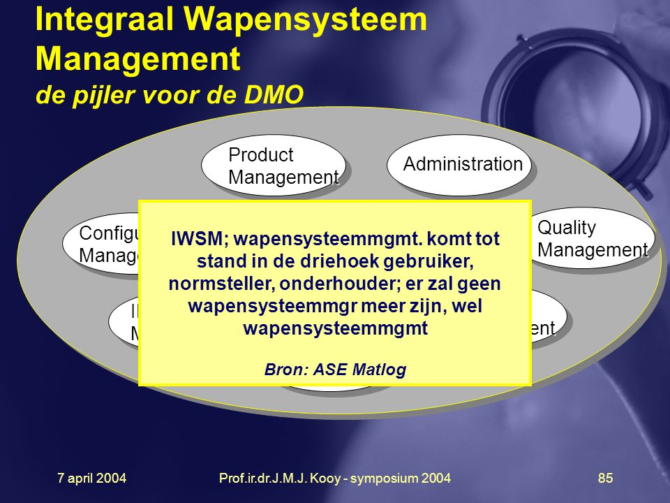 Integraal Wapensysteem Management de pijler voor de DMO
