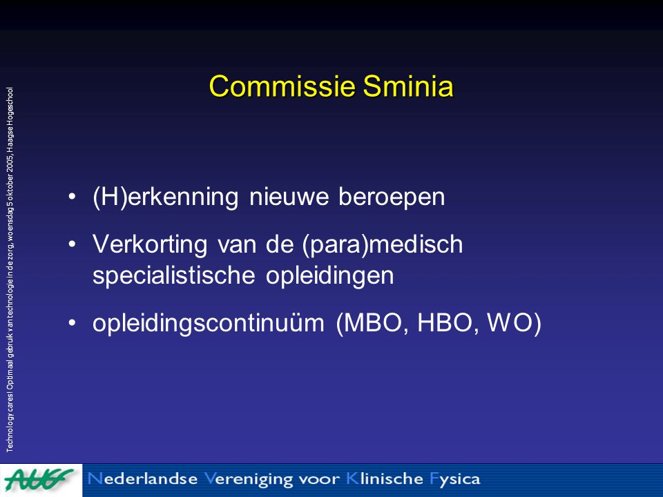 Commissie Sminia (H)erkenning nieuwe beroepen