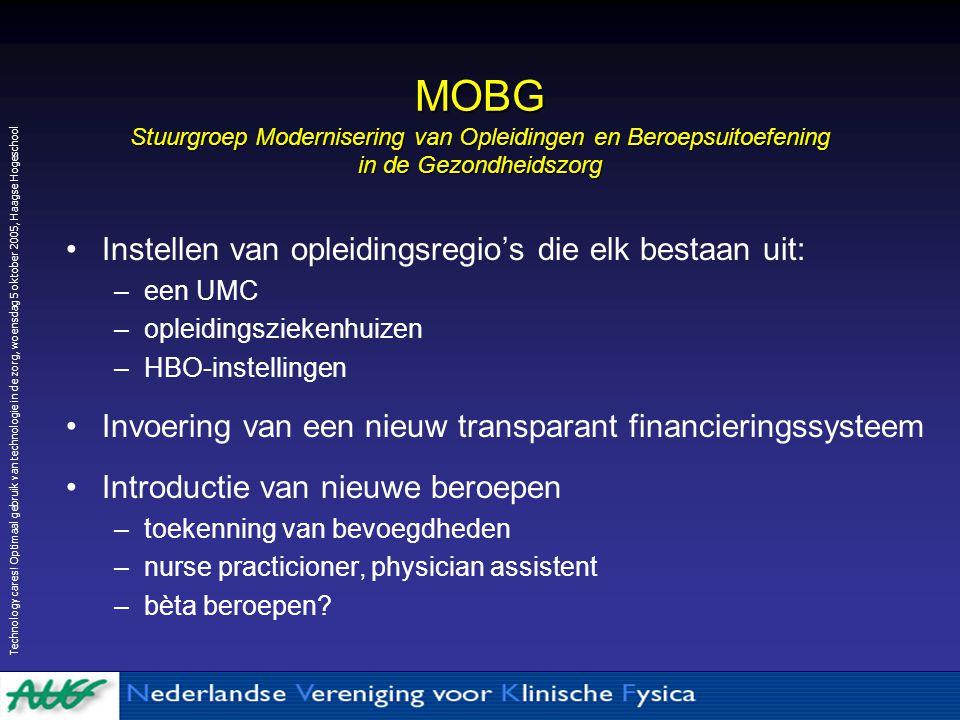 MOBG Stuurgroep Modernisering van Opleidingen en Beroepsuitoefening in de Gezondheidszorg