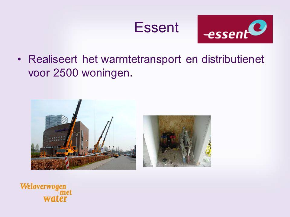 Essent Realiseert het warmtetransport en distributienet voor 2500 woningen. Gestuurde boring van 250 meter onder kanaal en weg.