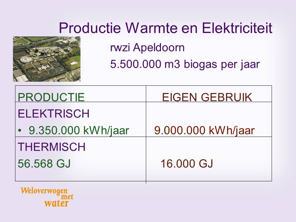 Productie Warmte en Elektriciteit