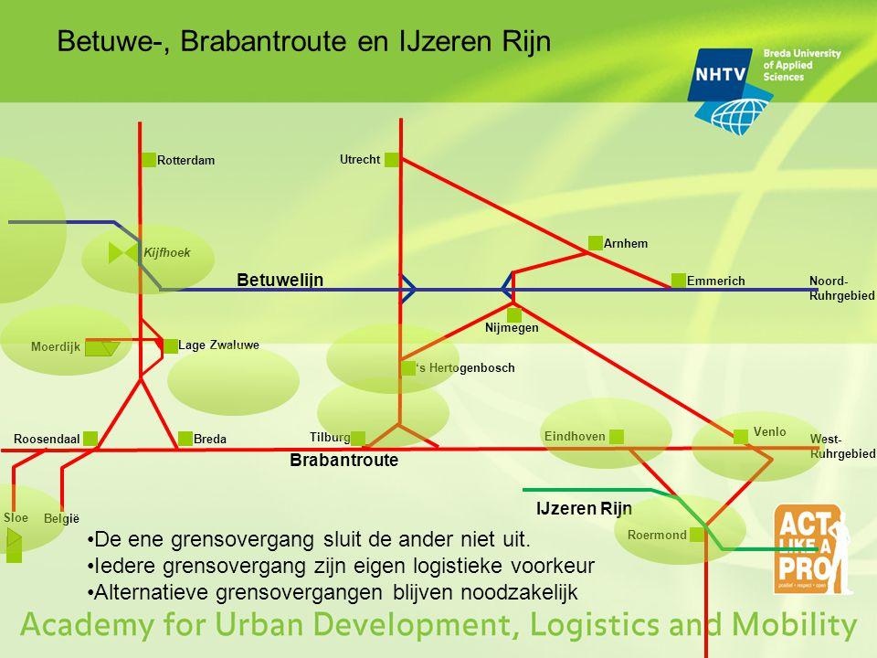 Betuwe-, Brabantroute en IJzeren Rijn