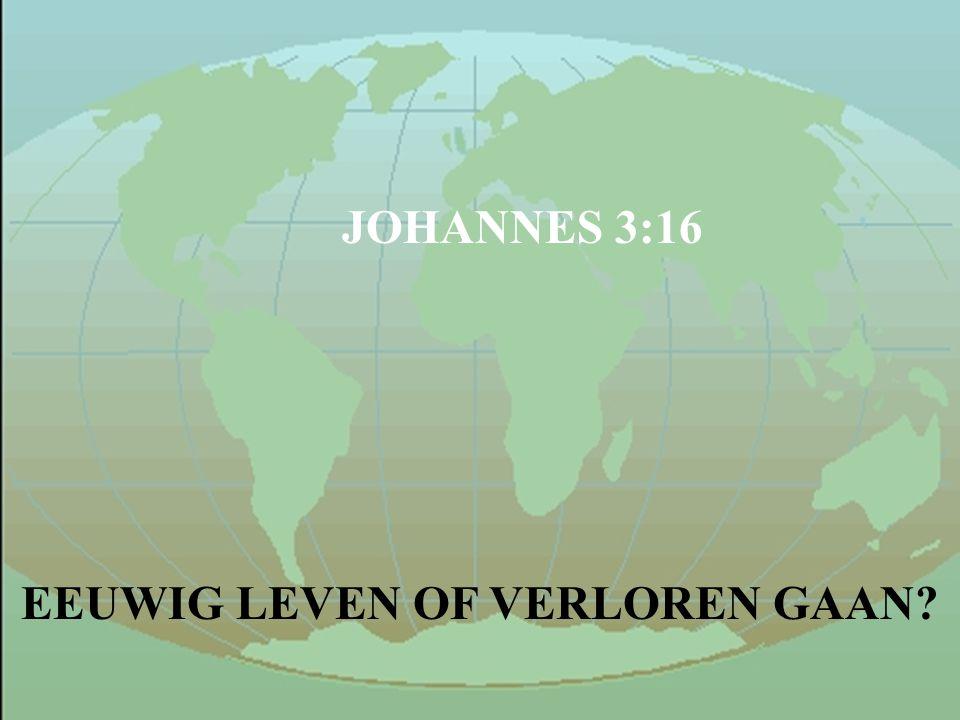 EEUWIG LEVEN OF VERLOREN GAAN