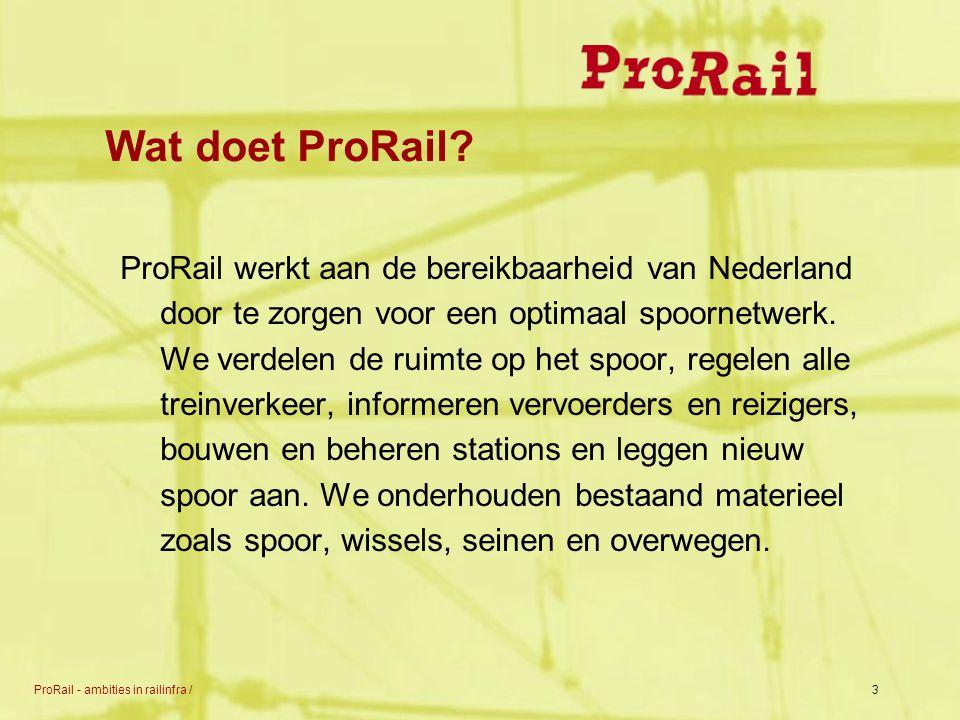 Wat doet ProRail