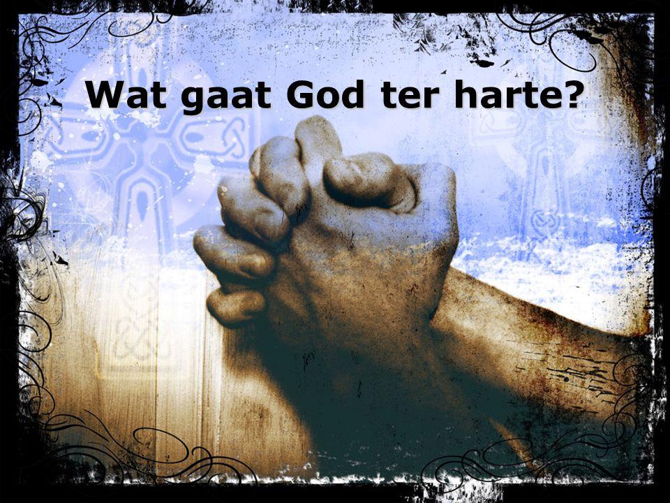 Wat gaat God ter harte