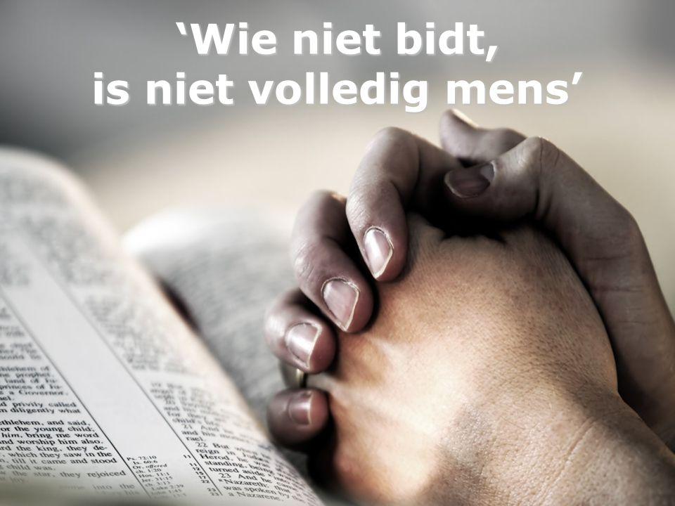 'Wie niet bidt, is niet volledig mens'