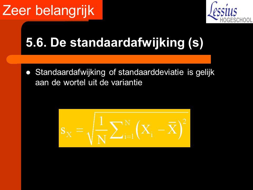 5.6. De standaardafwijking (s)