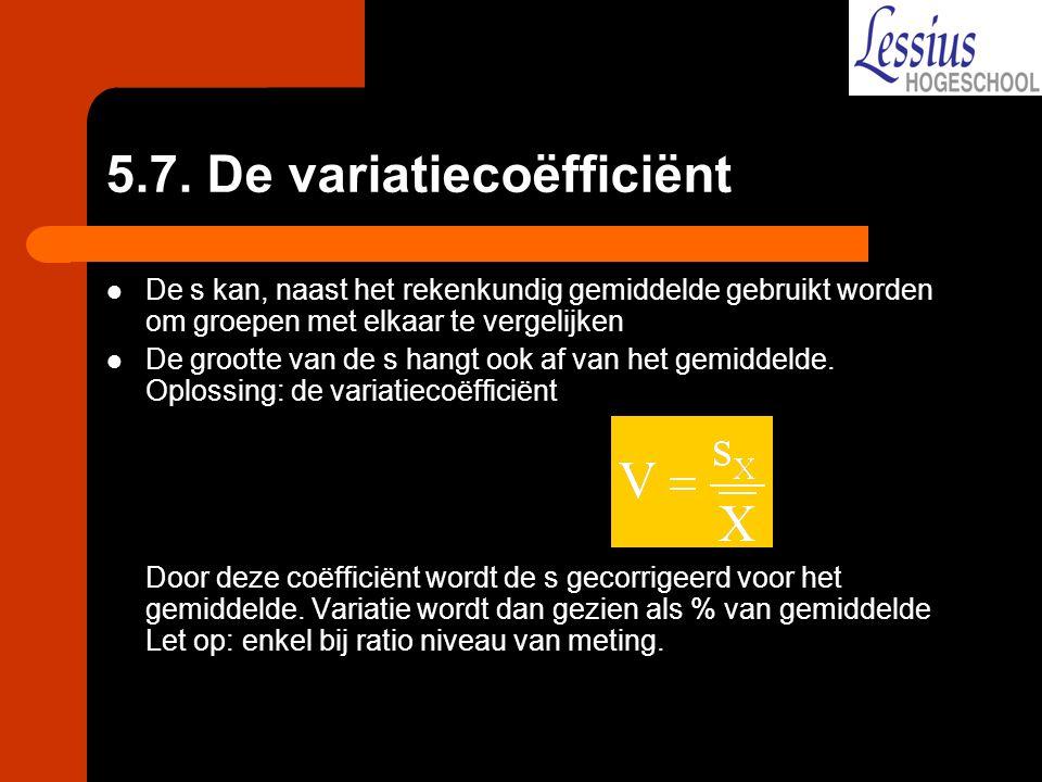 5.7. De variatiecoëfficiënt
