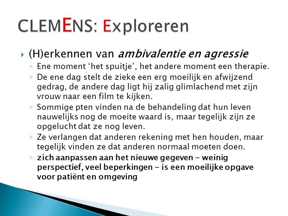 CLEMENS: Exploreren (H)erkennen van ambivalentie en agressie