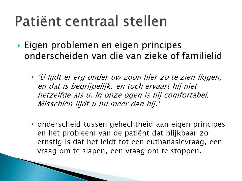 Patiënt centraal stellen
