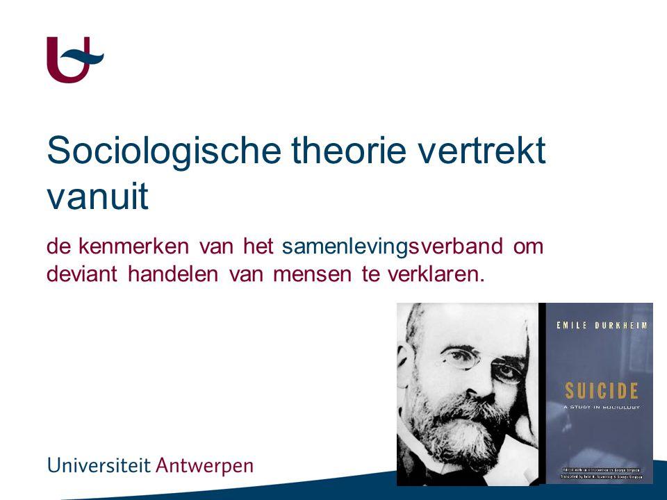 Durkheim: samenhang structurele integratie (netwerk) en cultuur (1)