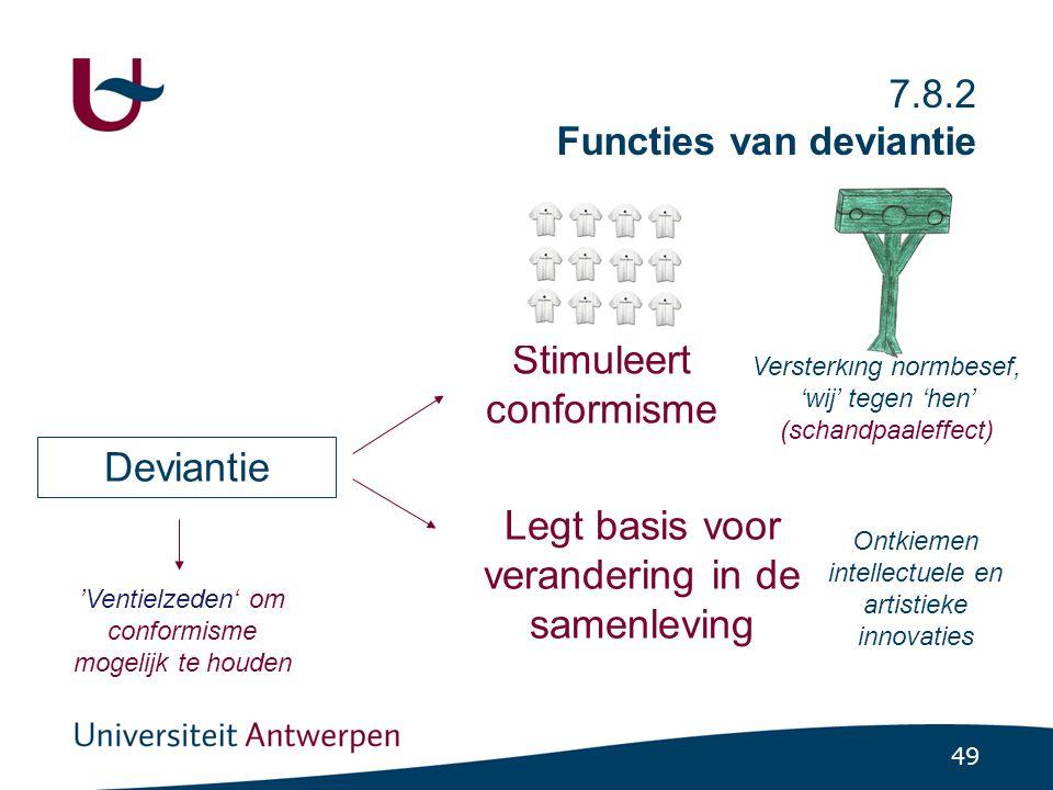 Synthese: Diverse sociale processen bewaken de continuïteit / stabiliteit van een samenleving (functionalisme).