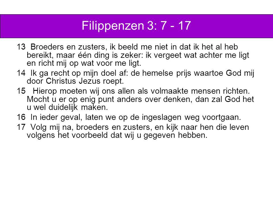 Filippenzen 3: 7 - 17