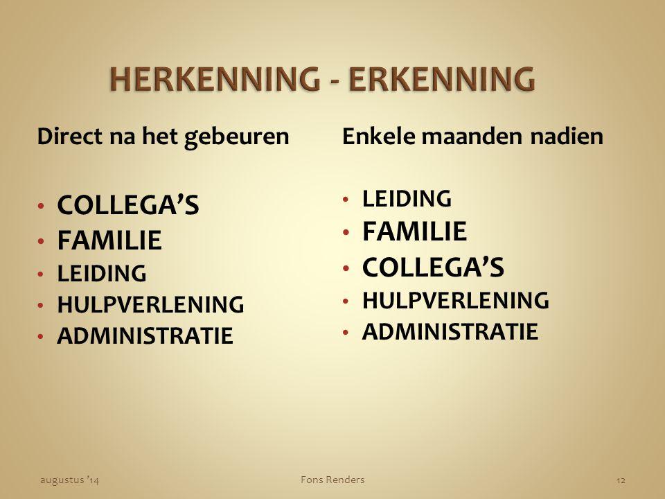 HERKENNING - ERKENNING